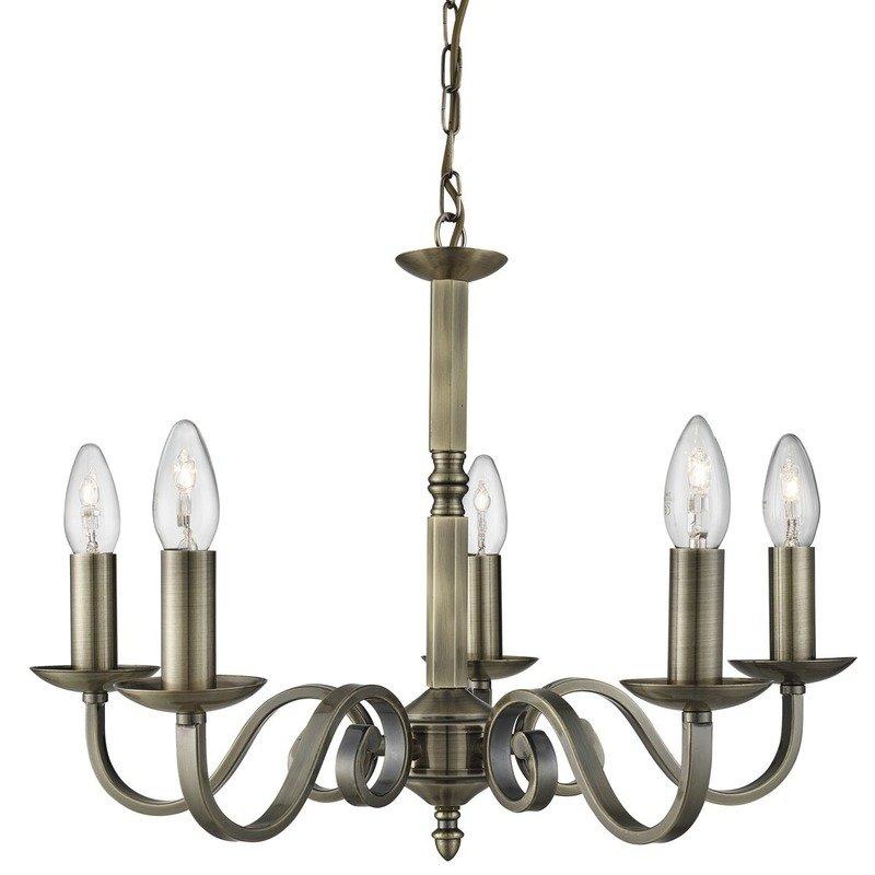 Candelabru Searchlight Richmond Brass V luxuriante.ro 2021