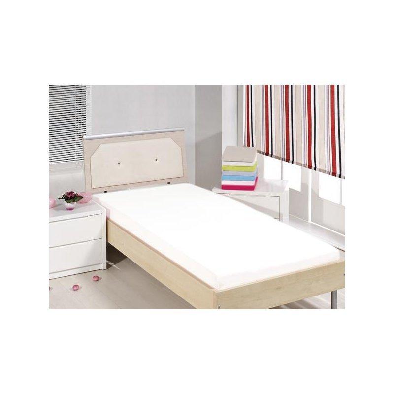 Cearceaf cu elastic alb 90x200 luxuriante.ro 2021