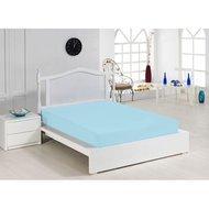 Cearceaf cu elastic turquoise 140x200