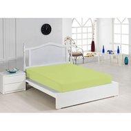 Cearceaf cu elastic verde 140x200