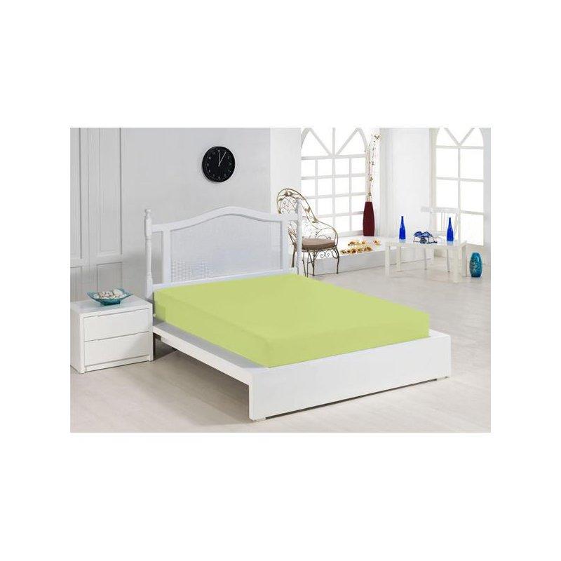 Cearceaf cu elastic verde 140x200 luxuriante.ro 2021