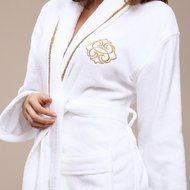 Halat Luxury Personalizat alb