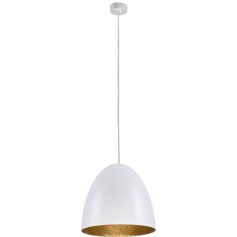 Pendul Egg Alb Gold