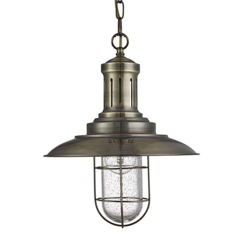 Pendul Searchlight Fisherman Cage Brass luxuriante.ro 2021