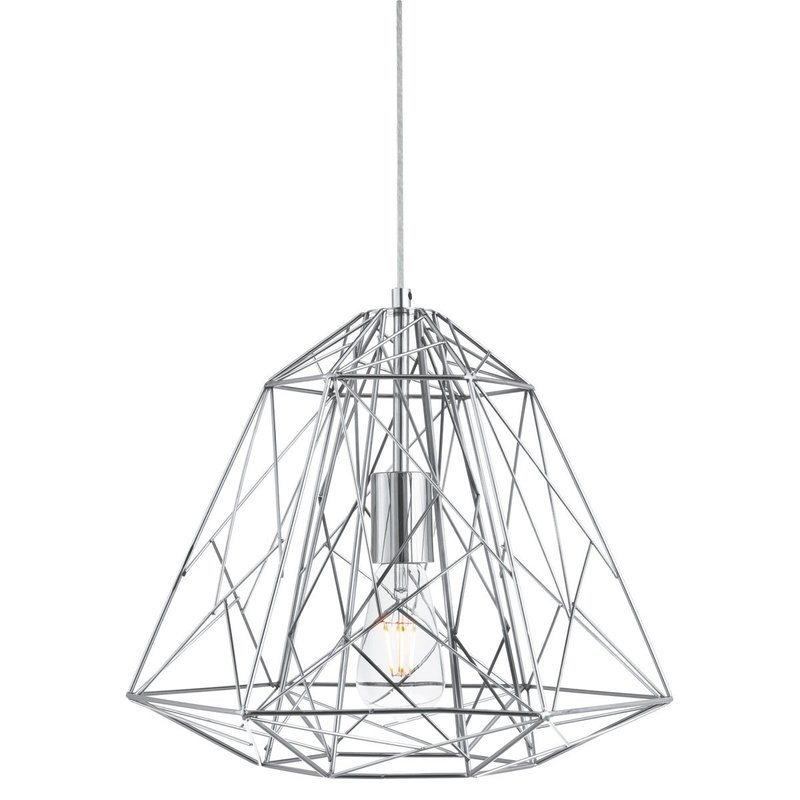 Poza Pendul Geometric Cage Chrome