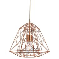 Pendul Searchlight Geometric Cage Copper