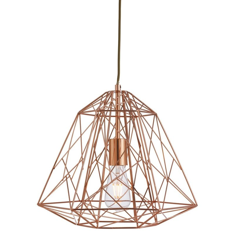 Poza Pendul Geometric Cage Copper