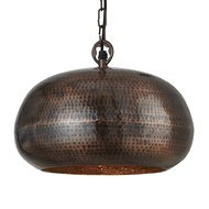 Pendul Searchlight Hammered Bowl Bronze S