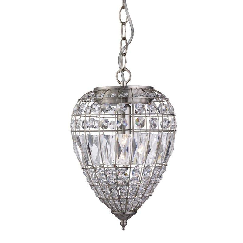 Pendul Pendant Argintiu Cristal Poza