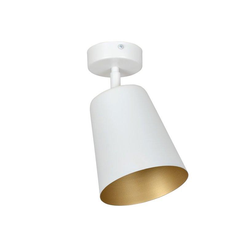 Plafoniera Prism Alb Gold