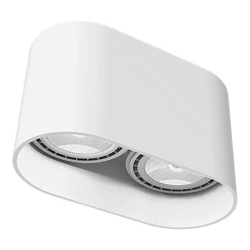 Plafoniera Oval White