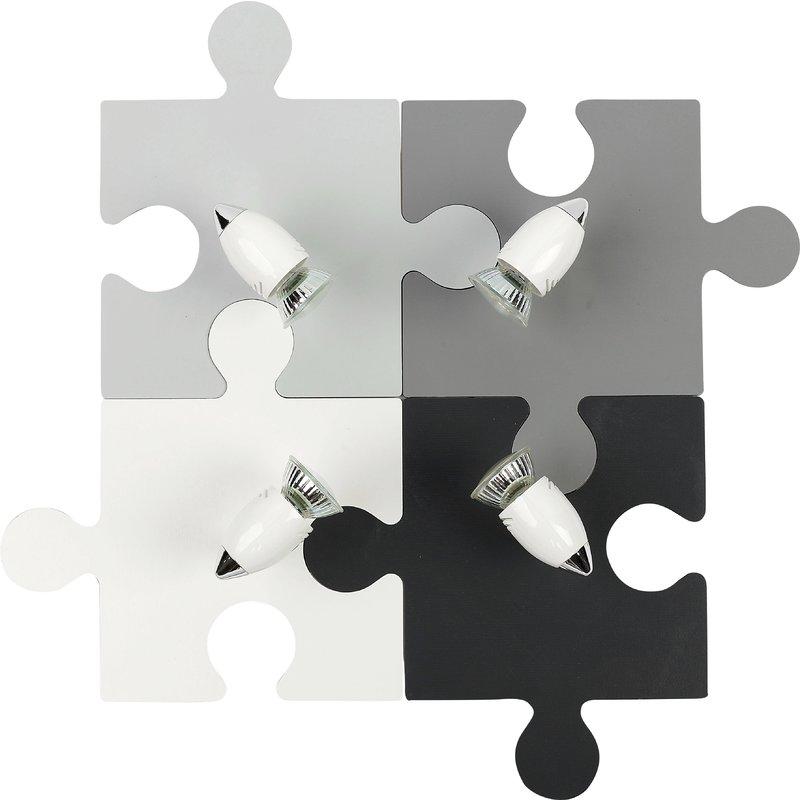 Plafoniera Puzzle Multi Gray