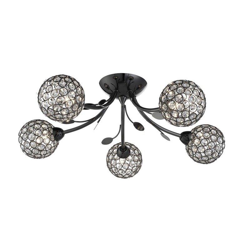Plafoniera Searchlight Bellis Black V luxuriante.ro 2021