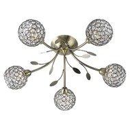 Plafoniera Searchlight Bellis Brass V