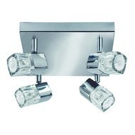 Plafoniera Searchlight Blocs Chrome