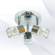 Plafoniera Searchlight Blocs Chrome III