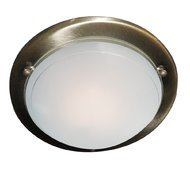 Plafoniera Searchlight Flush Brass Circle