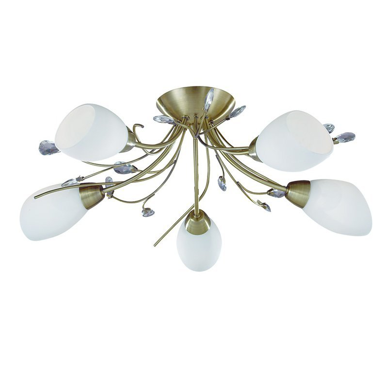 Plafoniera Searchlight Gardenia Brass V luxuriante.ro 2021