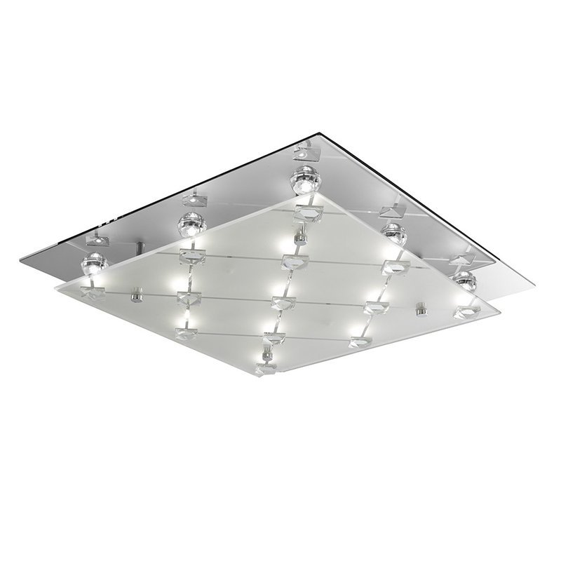 Foto Plafoniera Led Flush Chrome