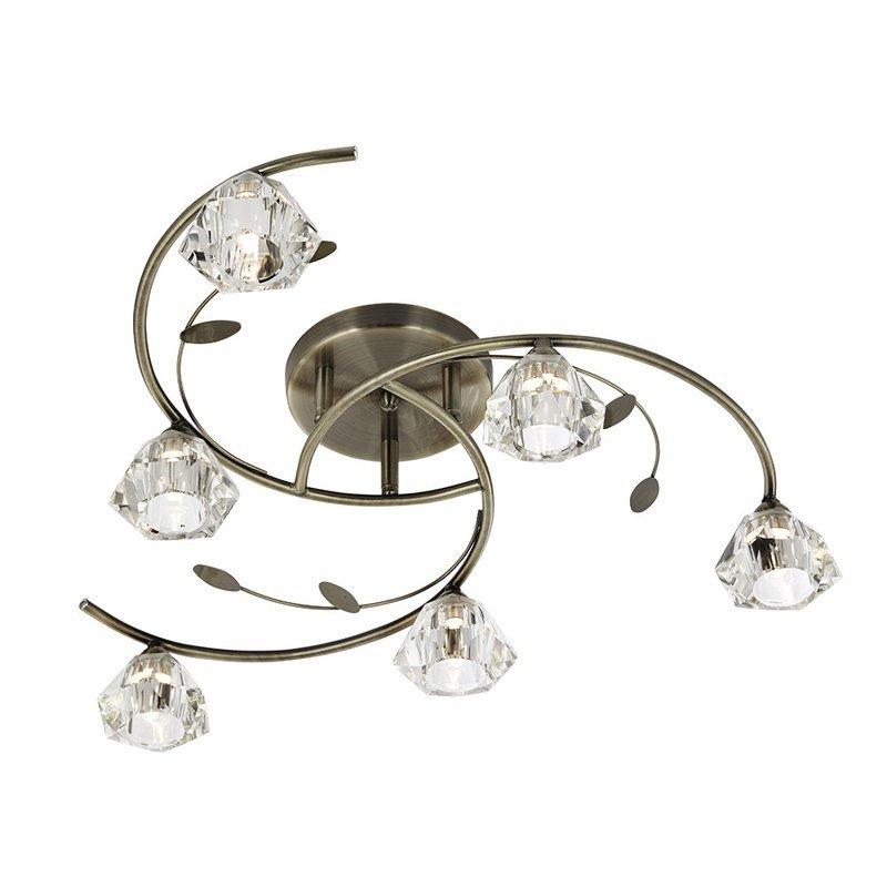 Plafoniera Searchlight Sierra Brass VI luxuriante.ro 2021