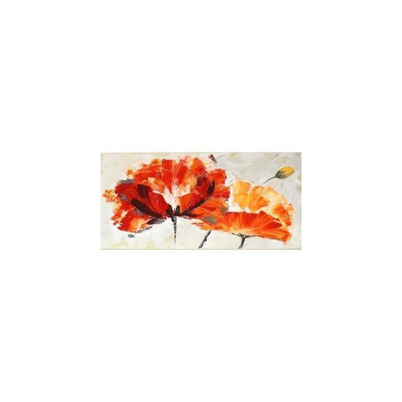 Tablou pictat manual Anemone, 45x90cm luxuriante.ro 2021