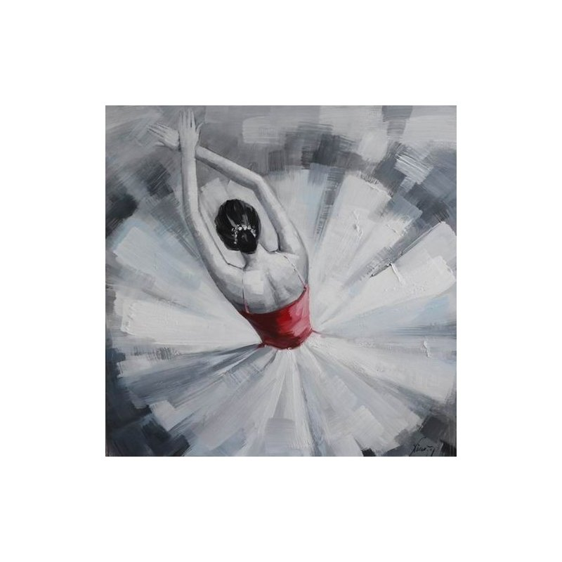Tablou pictat manual Ballerina, 40x40cm luxuriante.ro 2021