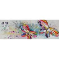 Tablou pictat manual Butterflies, 40x120cm