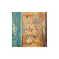 Tablou pictat manual Escape, 80x80cm