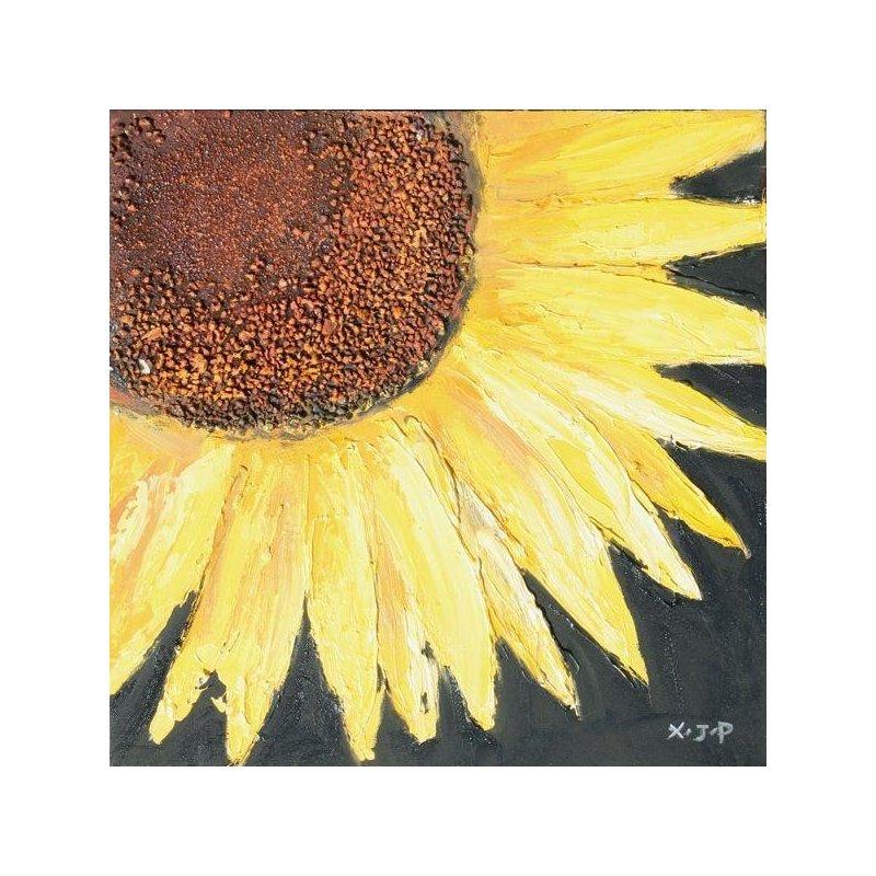 Tablou pictat manual Floarea Soarelui B, 40x40cm luxuriante.ro 2021