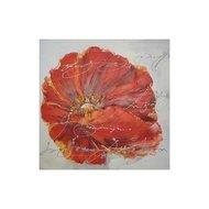 Tablou pictat manual Flora, 30x30cm
