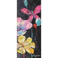 Tablou pictat manual Florid C, 100x40cm