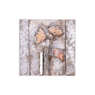 Tablou pictat manual Frozen Flowers, 30x30cm