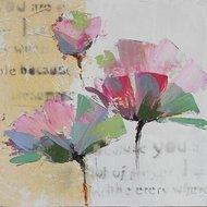 Tablou pictat manual Fundy, 60x60cm