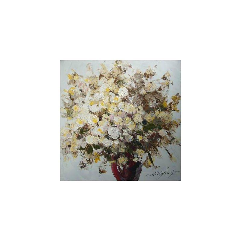 Tablou pictat manual Geranium luxuriante.ro 2021