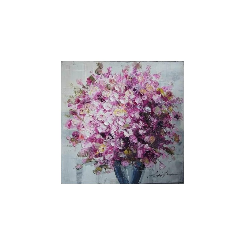 Tablou Pictat Manual Geranium Roz