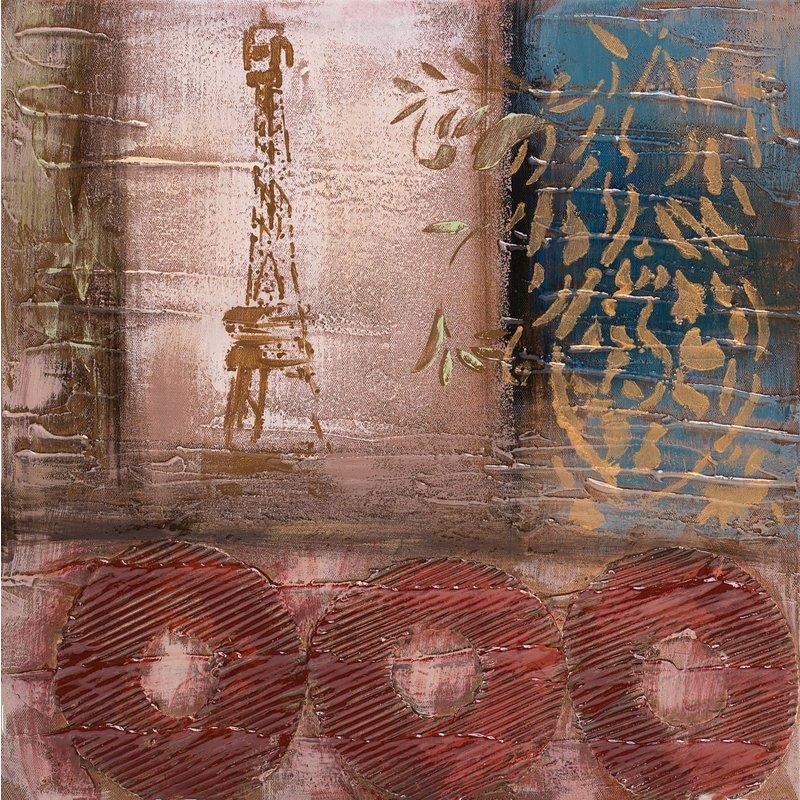 Tablou pictat manual La Parisienne, 40x40cm luxuriante.ro 2021