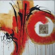 Tablou pictat manual Mister, 60x60cm