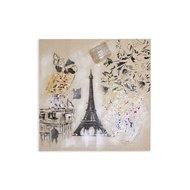 Tablou pictat manual Paris, 60x60cm