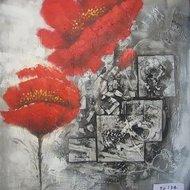 Tablou pictat manual Pasodoble, 60X60cm