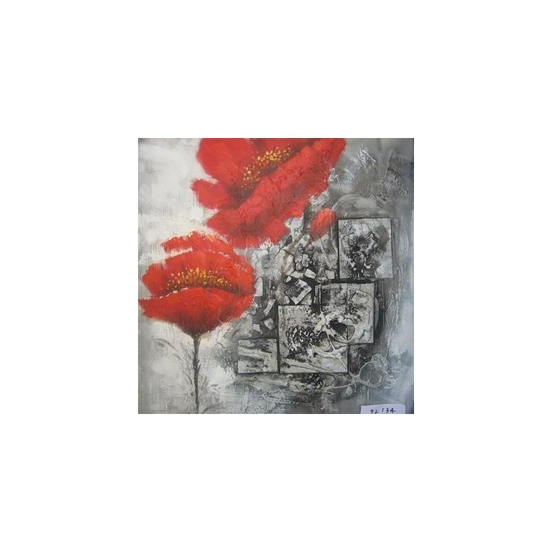 Tablou pictat manual Pasodoble, 60X60cm luxuriante.ro 2021