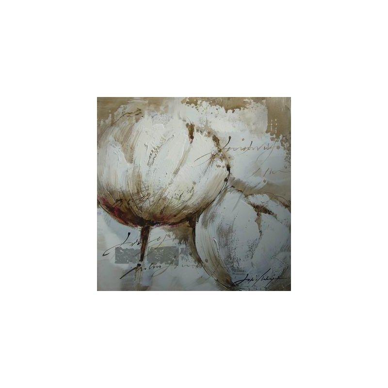 Tablou Pictat Manual Tulip Alb luxuriante.ro 2021
