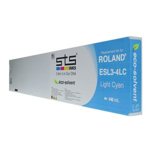 Cerneală STS eco solvent, cartuș 440mL, compatibil Roland Eco-Sol MAX Light Cyan