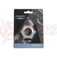 Adaptor frana Ashima AC03XL center lock ultra light argintiu