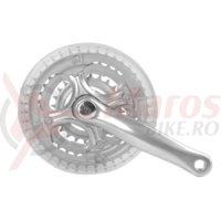 Angrenaj pedalier m-wave 24″(brat-165mm) 24/34/42 silver