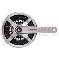 Angrenaj Shimano Tourney FC-TY501 48x38x28T  175mm 6/7/8V CG argintiu