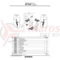 Ansamblu complet mecanism intern Shimano ST-4700 dreapta