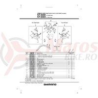 Ansamblu corp maneta Shimano ST-3300 stanga