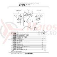 Ansamblu corp maneta Shimano ST-5600-L dreapta