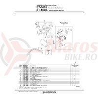 Ansamblu corp maneta Shimano ST-5603 stanga argintie