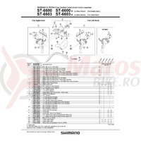 Ansamblu corp maneta Shimano ST-6603-G stanga ice gray